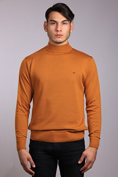 Erkek Kahverengi   Cotton Boğazlı Triko/kazak