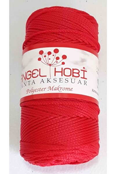 Kırmızı Renk Polyester Makrome