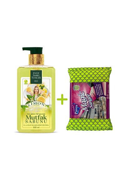 (yeni) Limon Mutfak Sabunu 500 Ml + Sünger Hediyeli!
