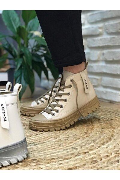 Kadın Bej Günlük Sneaker Bot