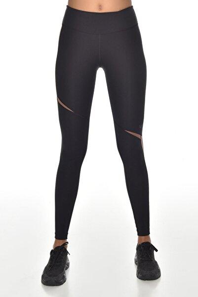 Kadın Siyah Yüksek Bel Sporcu Tayt Gw-9217