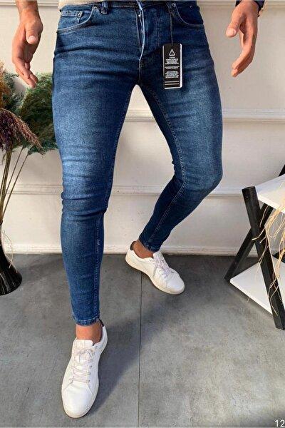Erkek Mavi  Kalite Kalıp Kumaş Jeans Kot Pantolon