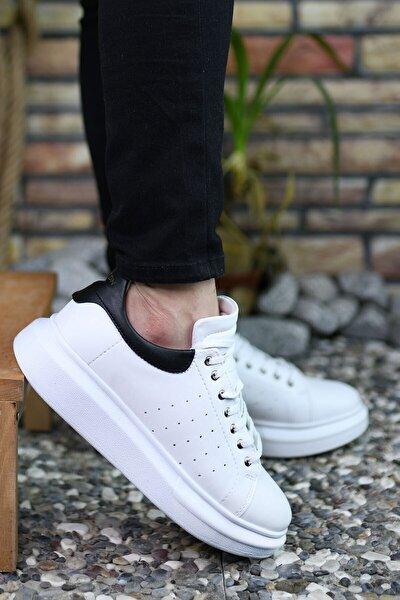 Beyaz Siyah  Erkek Sneaker