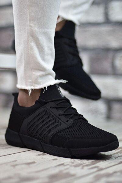Siyah Siyah Sportz Erkek Sneaker