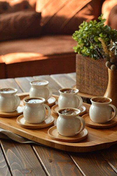 Bej 6 Kişilik Kahve Takımı B2774