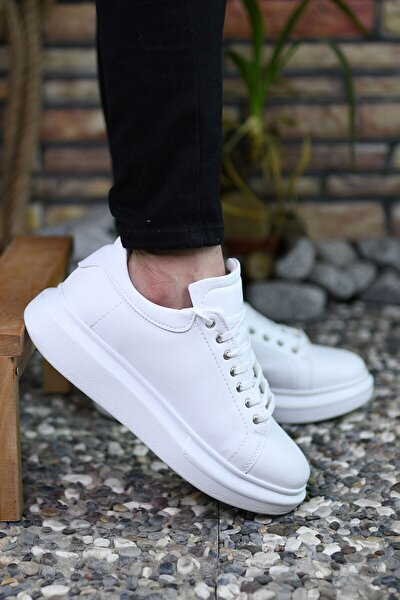 Beyaz Beyaz Erkek Sneaker 0012360