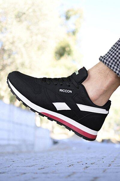 Siyah Beyaz Unisex Cilt Sneaker 0012853