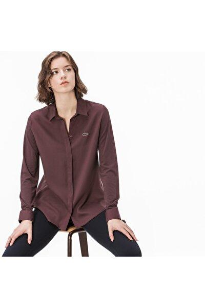 Kadın Bordo Uzun Kollu Gömlek
