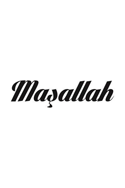 Maşallah Yazısı Sticker Yapıştırma | Kaput - Bagaj - Cam | Siyah