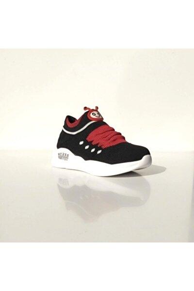Unisex Çocuk Siyah Kırmızı Ayakkabı P301