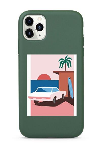 Koyu Yeşil Lansman Kılıf Iphone 11 Pro Max