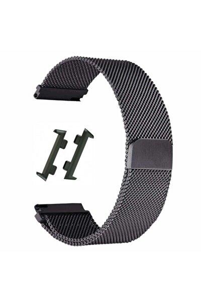 Nihcase Watch 41mm Metal Hasır Kordon Siyah