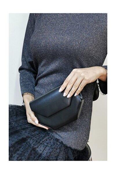 Kadın Siyah Abiye Clutch Çanta