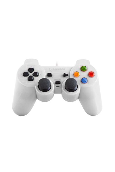 SNOPY RAMPAGE SG-R602 PS3/PC BEYAZ USB 1.8M GAMEPAD