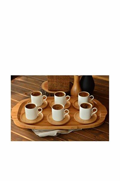 Bambu 6 Kişilik Kahve Fincan Takımı