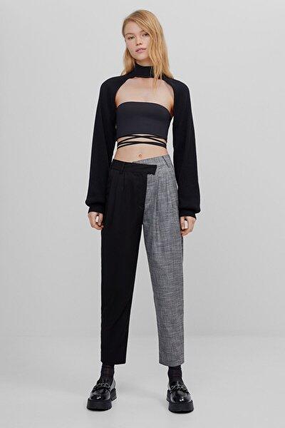 Kadın Siyah Kontrast Pantolon 00099168