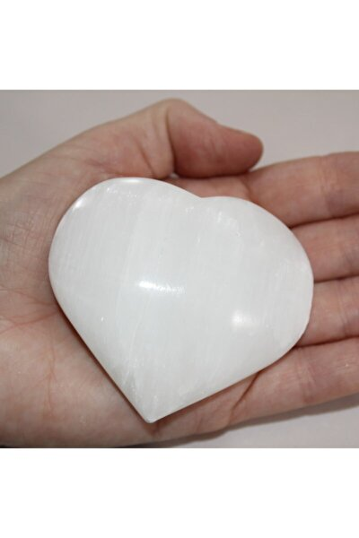 Kalp Şeklinde Doğal Selenit Taşı Doğal Taş