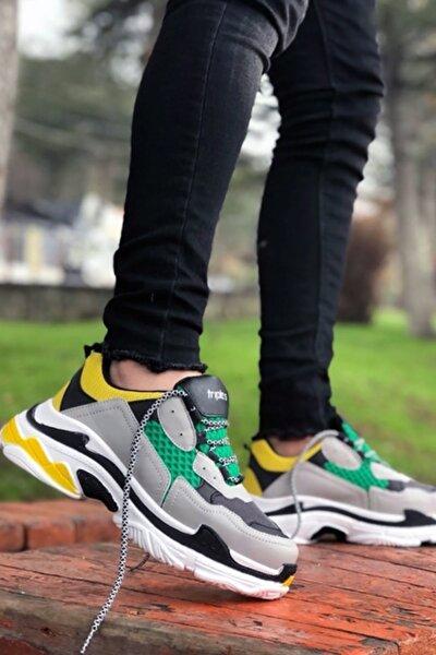 Unisex Yeşil Yüksek Taban Sneakers Ayakkabı