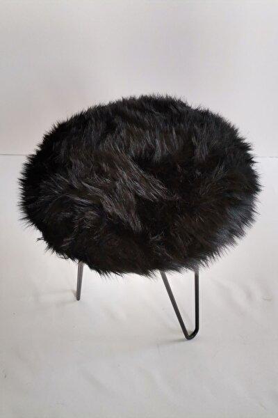 Siyah Peluş Puf