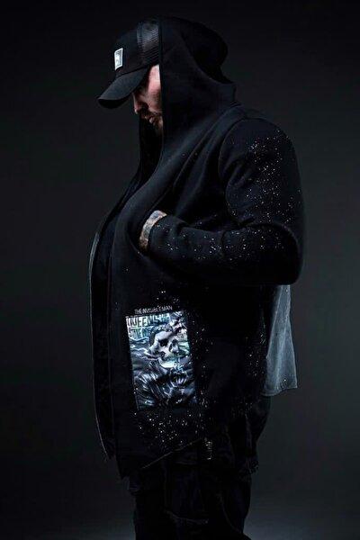 Siyah Kamuflaj Baskılı Sweatshirt 1KXE8-44333-02
