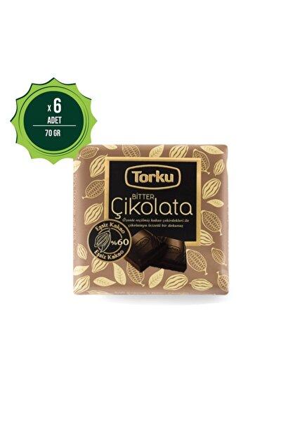 Kare Bitter Çikolata 65 gr X6