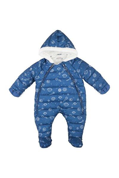 Erkek Bebek Mavi Desenli Astronot Tulum