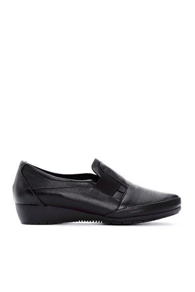 Kadın Siyah Deri Comfort Ayakkabı