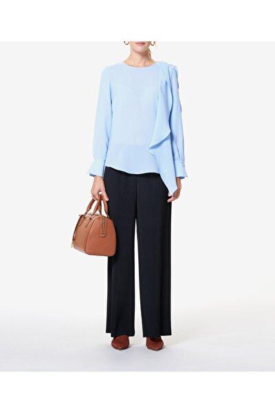 Kadın Mavi Omzu Detaylı Bluz S23698048