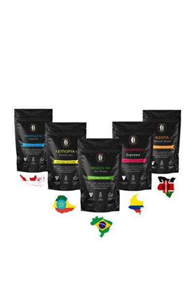 Premium Dünya Kahveleri Seti ( French Press , Cold Brew ) 5 X 100 ( 500 Gr. )