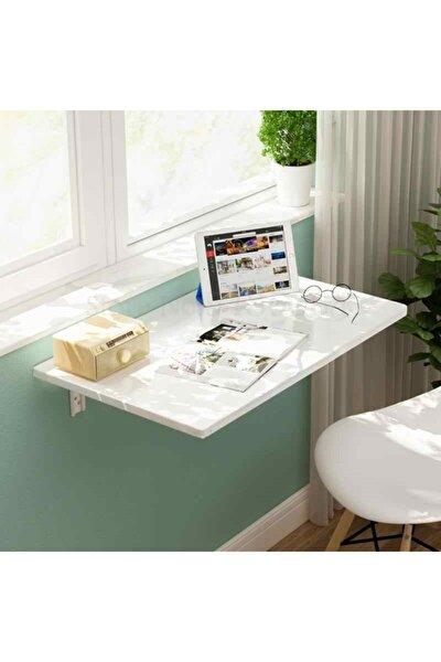 Katlanabilir Çalışma Masası Laptop Masası Beyaz