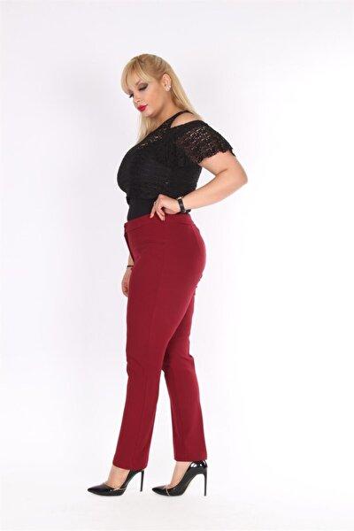 Kadın Bordo Pantolon