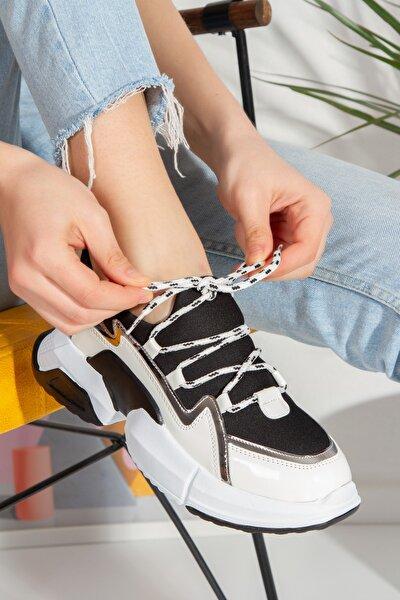 Kadın Beyaz Bağcıklı Leona Sneaker