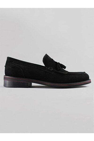 6080 Erkek Siyah Süet Deri Corcik Klasik Ayakkabı