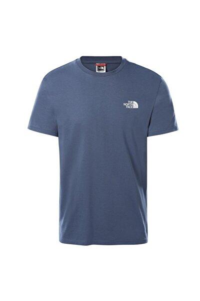 Erkek Mavi Simple Dome  T-shirt
