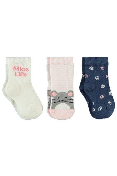 Kız Bebek  Pembe Çorap Set 0-24 Ay 3'lü