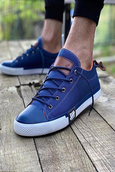 Unisex Lacivert Bağcıklı Casual Ayakkabı