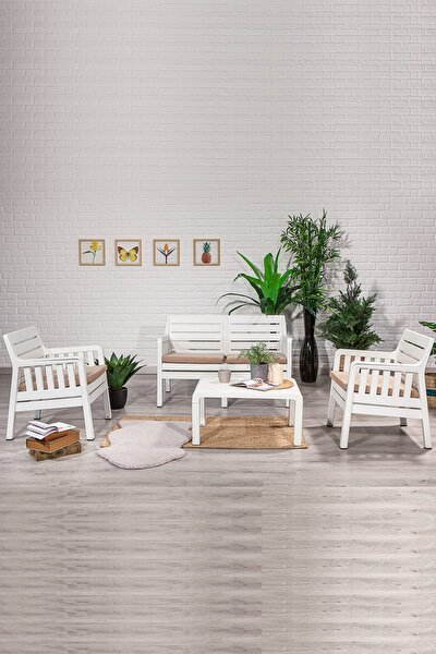 Lara 2 1 1 S Balkon&teras Bahçe Mobilyası / Beyaz