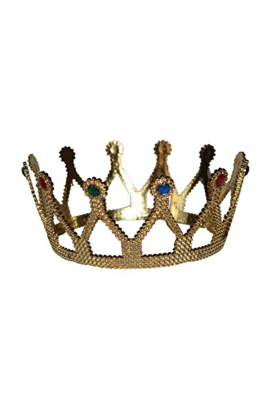 Altın Renginde Kraliçe Tacı Plastik