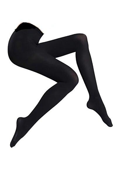 Kadın Siyah Külotlu Opak Mikro 80 Denye Çorap
