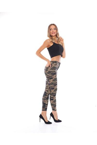 Kadın Dar Kalıp Yüksek Bel Likralı Gabardin Pantolon