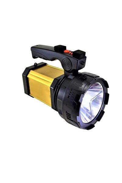 Yp-8100l Prejektör 25w Led Şarjlı El Feneri Sos Ve Uzun Menzil Powerbank Usb Çıkış + Yan Aydınlatma