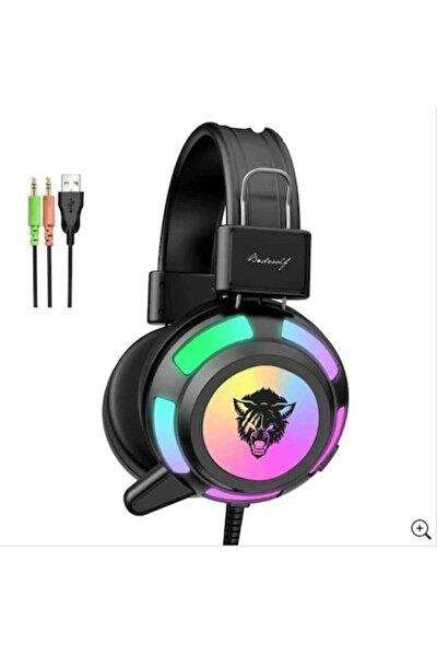 V8 Mikrofonlu Oyuncu Kulaklığı Yeni Rgb Led Işıklı Kulaklık
