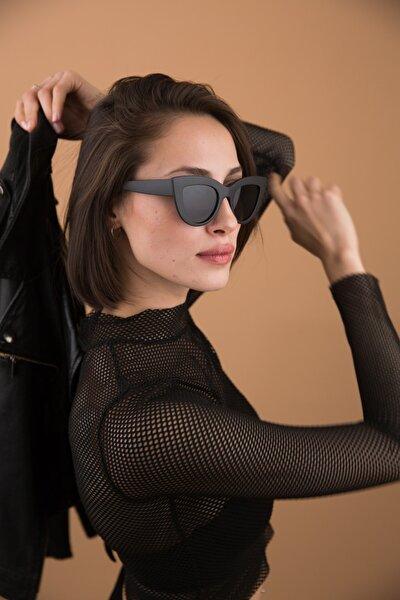 Kadın Siyah Nia Matt Black Güneş Gözlüğü
