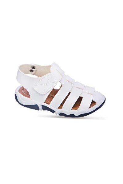 501 R 7401 21-25 Suni Deri Sandalet Beyaz