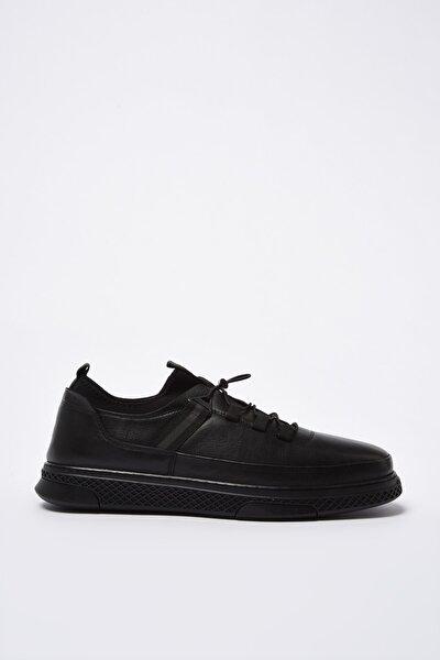 Hakiki Deri Erkek Siyah Sneaker 02AYH201040A100