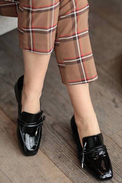 Katrina Siyah Rugan Topuklu Ayakkabı