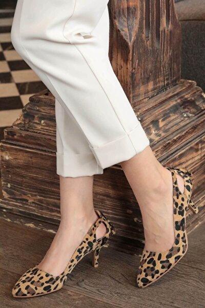 Drop Leopar Topuklu Ayakkabı