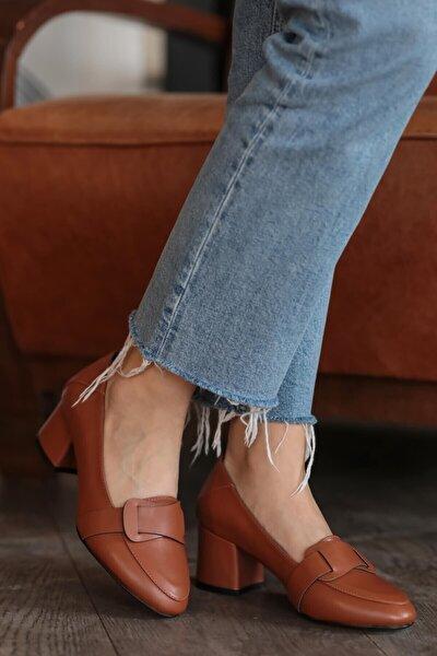 Romy Taba Topuklu Ayakkabı