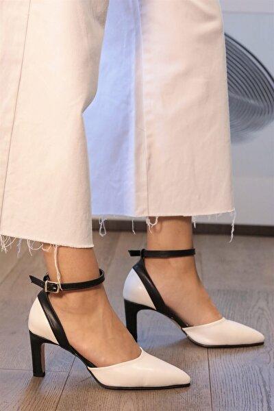 Luna Beyaz Topuklu Ayakkabı