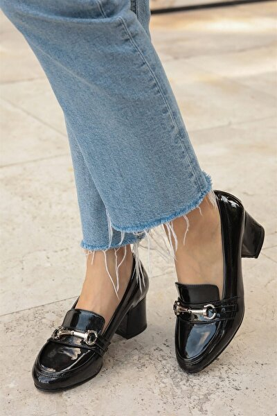 Jamie Siyah Topuklu Ayakkabı